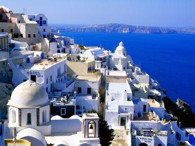 Описание и снимки на пристанище о-в Санторини, Гърция от круизен маршрут