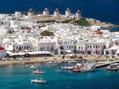 Описание и снимки на пристанище о-в Миконос, Гърция от круизен маршрут