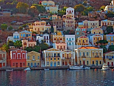 Описание и снимки на пристанище о-в Сими, Гърция от круизен маршрут