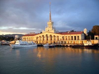 Описание и снимки на пристанище Сочи, Руска федерация от круизен маршрут
