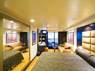 Описание на каюта Каюти с балкон – клас Aurea на круизен кораб MSC Splendida – обзавеждане, площ, разположение