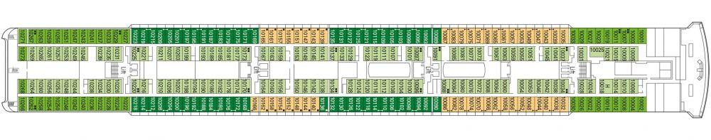 Палуба 11 Tosca на круизен кораб MSC Opera - разположение на каюти, ресторанти, места за забавления и спорт