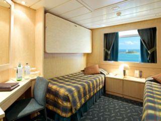 Описание на каюта Външни каюти - клас Bella на круизен кораб MSC Armonia – обзавеждане, площ, разположение