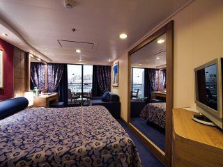 Описание на каюта Каюти с балкон – клас Aurea на круизен кораб MSC Orchestra – обзавеждане, площ, разположение