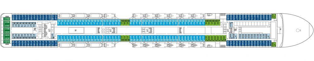 Палуба 8 Forte на круизен кораб MSC Musica - разположение на каюти, ресторанти, места за забавления и спорт