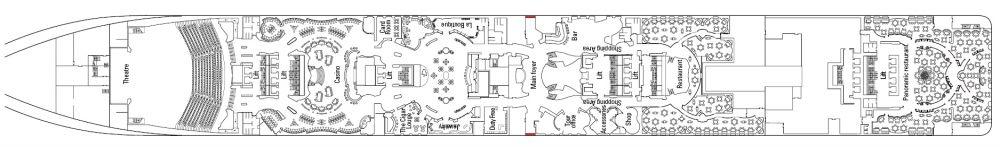 Палуба 6 Zeus  на круизен кораб MSC Divina - разположение на каюти, ресторанти, места за забавления и спорт