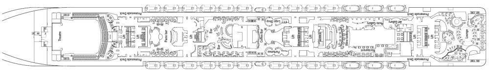 Палуба 7 Apollo  на круизен кораб MSC Divina - разположение на каюти, ресторанти, места за забавления и спорт