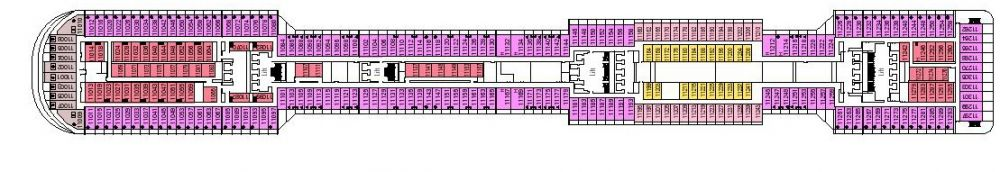 Палуба 11 Iride на круизен кораб MSC Divina - разположение на каюти, ресторанти, места за забавления и спорт