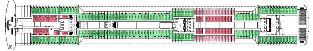 Палуба 13 Cupido на круизен кораб MSC Divina - разположение на каюти, ресторанти, места за забавления и спорт