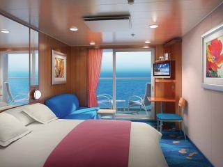 Описание на каюта Семейни каюти с балкон - категории B2 и B3 на круизен кораб Norwegian Jade – обзавеждане, площ, разположение