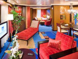 Описание на каюта The Haven Owner's Suite - H3 на круизен кораб Norwegian Jade – обзавеждане, площ, разположение