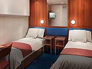 Описание на каюта Семейна вътрешна каюта - категория I1  на круизен кораб Norwegian STAR – обзавеждане, площ, разположение