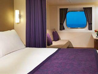 Описание на каюта Външни каюти с голям прозорец OA, OC на круизен кораб Norwegian Breakaway – обзавеждане, площ, разположение