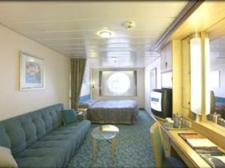 Описание на каюта Oceanview Stateroom -  категория H на круизен кораб MARINER of the Seas – обзавеждане, площ, разположение