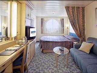 Описание на каюта Oceanview Stateroom -  категория F на круизен кораб MARINER of the Seas – обзавеждане, площ, разположение