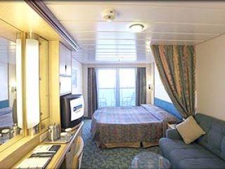Описание на каюта Deluxe Oceanview Stateroom - категория Е1 на круизен кораб MARINER of the Seas – обзавеждане, площ, разположение