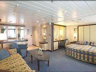 Описание на каюта Grand Suite – категория GS на круизен кораб MARINER of the Seas – обзавеждане, площ, разположение