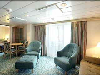 Описание на каюта Royal Family Suite – категория FS на круизен кораб MARINER of the Seas – обзавеждане, площ, разположение