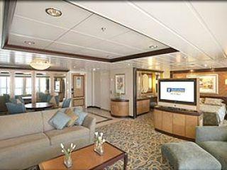 Описание на каюта Owner's Suite –  категория OS на круизен кораб MARINER of the Seas – обзавеждане, площ, разположение