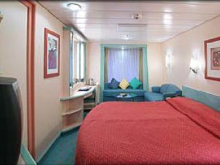 Описание на каюта Promenade Stateroom – категория PR на круизен кораб ADVENTURE of the Seas – обзавеждане, площ, разположение