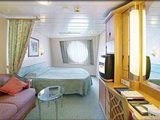 Описание на каюта Oceanview Guarantee – категория Y  на круизен кораб ADVENTURE of the Seas – обзавеждане, площ, разположение