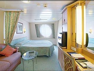 Описание на каюта Oceanview Stateroom - категория I и H на круизен кораб ADVENTURE of the Seas – обзавеждане, площ, разположение