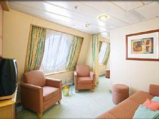 Описание на каюта Family Oceanview Stateroom – категория FО на круизен кораб ADVENTURE of the Seas – обзавеждане, площ, разположение