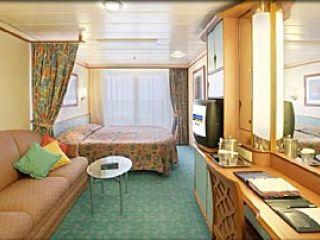 Описание на каюта Superior Oceanview Stateroom – категория D2 на круизен кораб ADVENTURE of the Seas – обзавеждане, площ, разположение