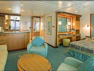 Описание на каюта Grand Suite – категория GS на круизен кораб ADVENTURE of the Seas – обзавеждане, площ, разположение