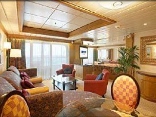 Описание на каюта Owner's Suite – категория OS на круизен кораб ADVENTURE of the Seas – обзавеждане, площ, разположение