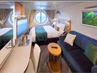 Описание на каюта Ocean View Stateroom – категория F на круизен кораб OASIS of the Seas – обзавеждане, площ, разположение