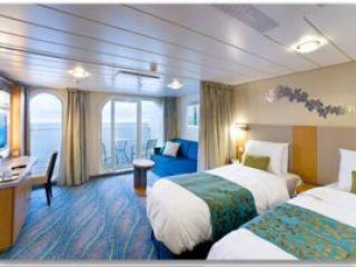 Описание на каюта  Family Oceanview Balcony – категория FB  на круизен кораб OASIS of the Seas – обзавеждане, площ, разположение