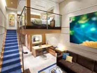 Описание на каюта Crown Loft Suite Balcony  – апартамент с мансарда, категория L1-L2  на круизен кораб OASIS of the Seas – обзавеждане, площ, разположение
