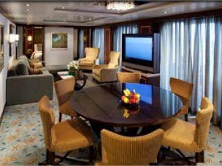 Описание на каюта Presidential Family Suite Balcony – категория PS на круизен кораб OASIS of the Seas – обзавеждане, площ, разположение