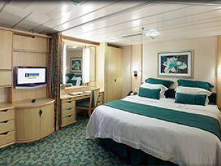 Описание на каюта Вътрешна семейна каюта - категория FI на круизен кораб FREEDOM of the Seas – обзавеждане, площ, разположение