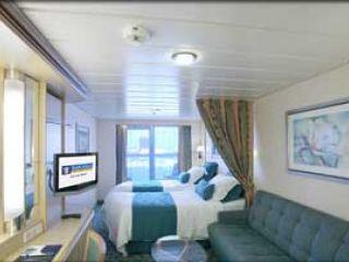 Описание на каюта Големи каюти с балкон - категория D1, D2, D3 на круизен кораб FREEDOM of the Seas – обзавеждане, площ, разположение