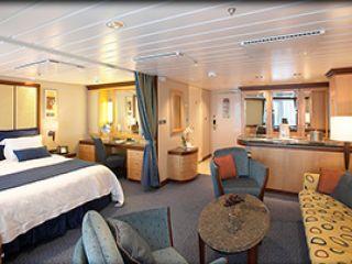 Описание на каюта Голям апартамент - категория GS на круизен кораб FREEDOM of the Seas – обзавеждане, площ, разположение