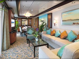 Описание на каюта Президентски семеен апартамент - категория PS  на круизен кораб FREEDOM of the Seas – обзавеждане, площ, разположение