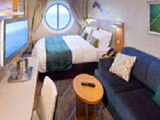 Описание на каюта Ocean View Stateroom – категория F на круизен кораб ALLURE Of The Seas – обзавеждане, площ, разположение