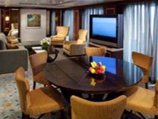 Описание на каюта Presidential Family Suite Balcony – категория PS на круизен кораб ALLURE Of The Seas – обзавеждане, площ, разположение