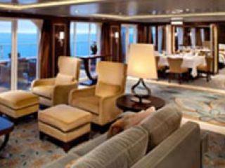 Описание на каюта Royal Suite Balcony – кралски апартамент, категория RS на круизен кораб ALLURE Of The Seas – обзавеждане, площ, разположение