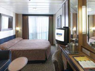 Описание на каюта Луксозни каюти с балкон категории Е1, Е2, Е3 на круизен кораб JEWEL of the Seas – обзавеждане, площ, разположение
