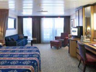 Описание на каюта Малък апартамент с балкон категория JS на круизен кораб JEWEL of the Seas – обзавеждане, площ, разположение