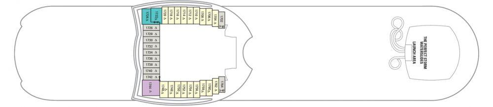 Палуба №18 на круизен кораб HARMONY of the Seas - разположение на каюти, ресторанти, места за забавления и спорт