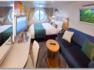 Описание на каюта Външна каюта на круизен кораб HARMONY of the Seas – обзавеждане, площ, разположение