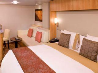 Описание на каюта Вътрешни каюти (категория 9, 10, 11, 12) на круизен кораб Celebrity EQUINOX – обзавеждане, площ, разположение