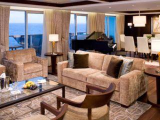 Описание на каюта Апартаменти Penthouse Suite на круизен кораб Celebrity EQUINOX – обзавеждане, площ, разположение