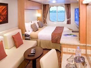 Описание на каюта Външни каюти (категория 7, 8) на круизен кораб Celebrity SOLSTICE – обзавеждане, площ, разположение
