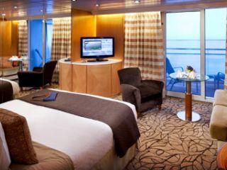 Описание на каюта Апартамент Sky Suite – категории S1 и S2 на круизен кораб Celebrity MILLENNIUM – обзавеждане, площ, разположение