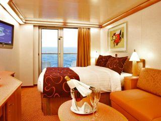 Описание на каюта Каюти с балкон - клас Premium на круизен кораб Costa LUMINOSA – обзавеждане, площ, разположение